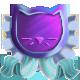 Foil cat medal