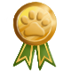 Gold paw medal