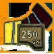 250 GPH
