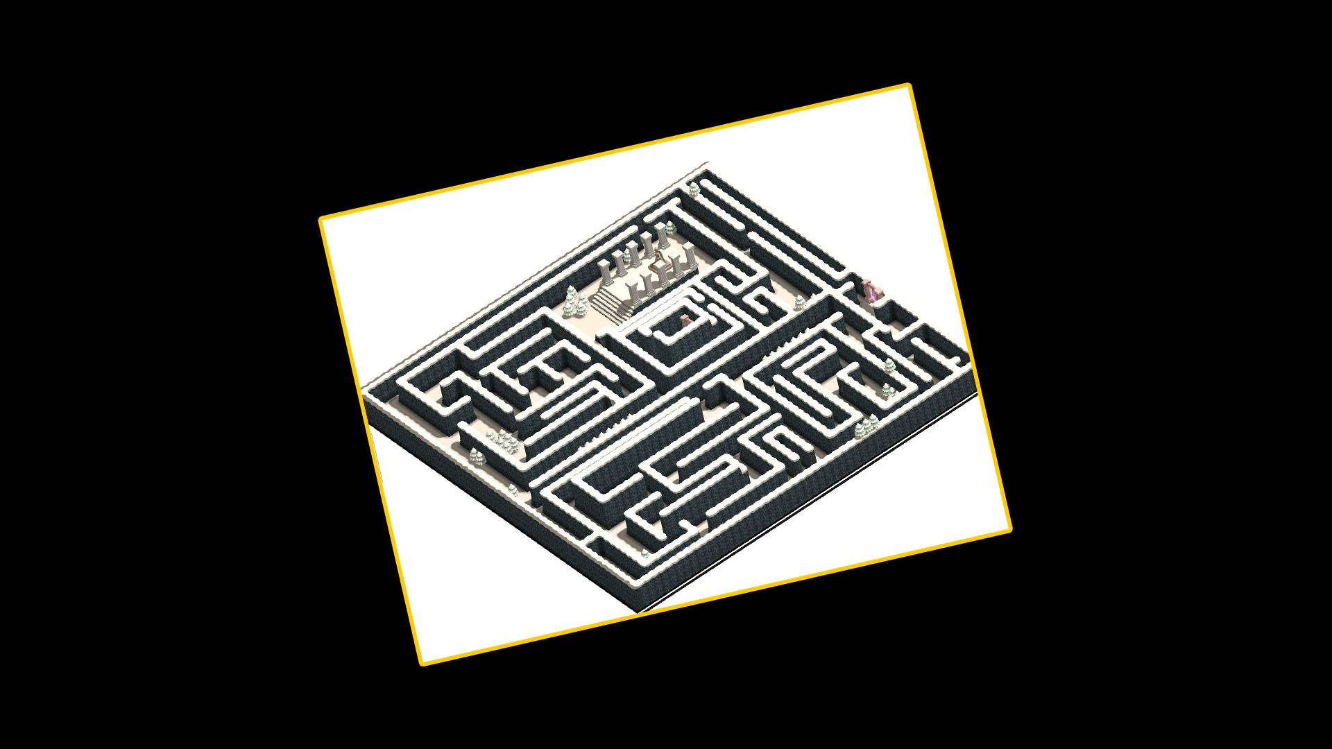 Steam Card Exchange Showcase Chicken Labyrinth Puzzles 5 Circuit 1 Of 5artwork Snow