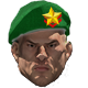 Green star beret