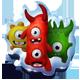 Trio of mascots