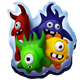 Group of mascots