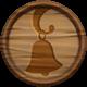 Wooden shop bell