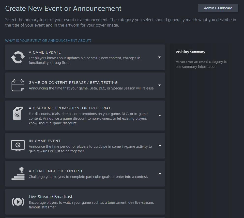 Créer un évènement ou une annonce