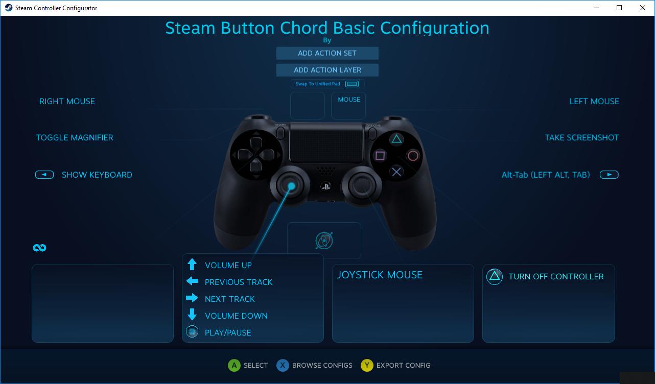 設定 steam コントローラー