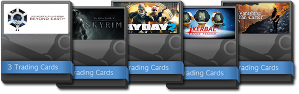 Steam trading cards steamworks documentation once a user has received their allotted trading card drops for a product they become eligible for a booster pack a booster pack grants 3 additional cards maxwellsz